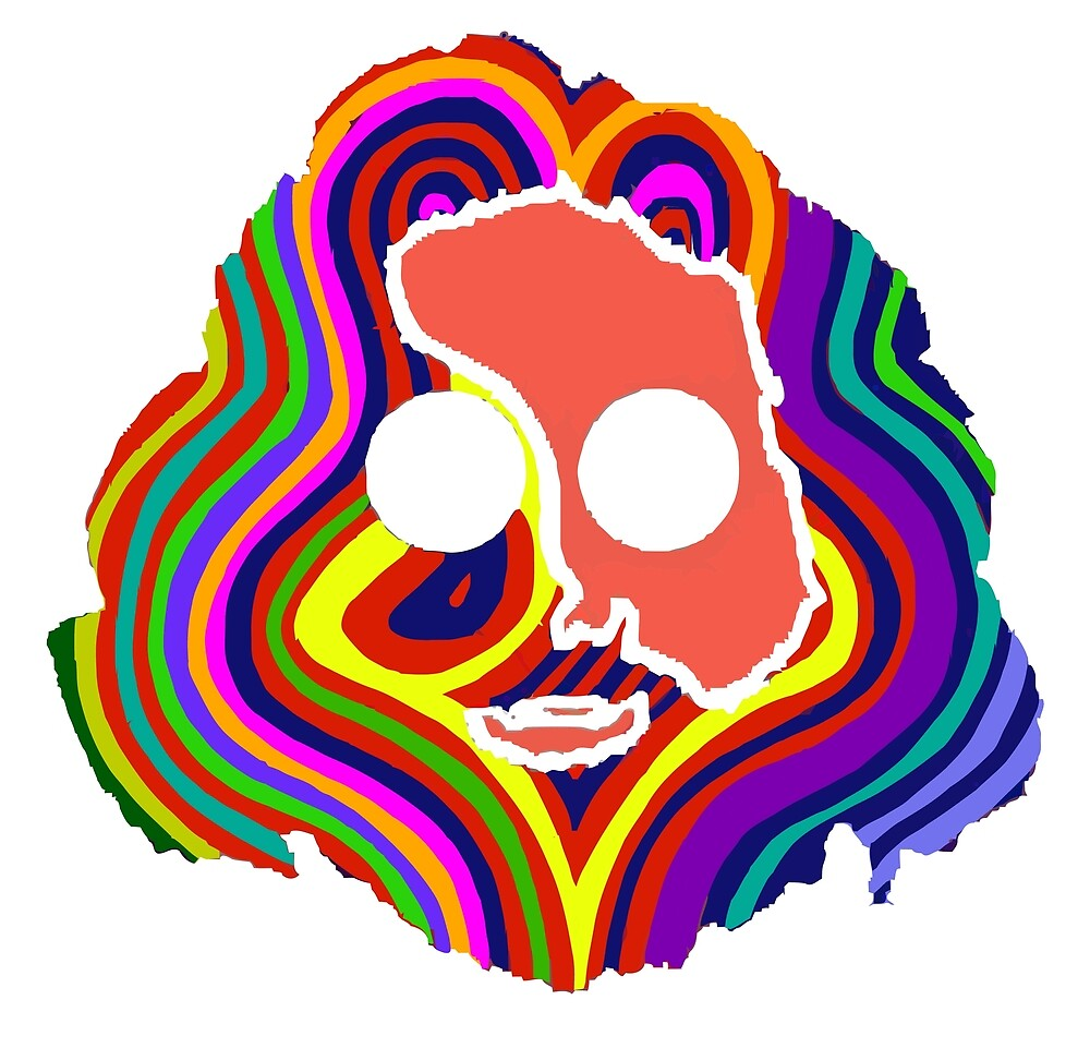 grateful dead jerry garcia face by lamakama