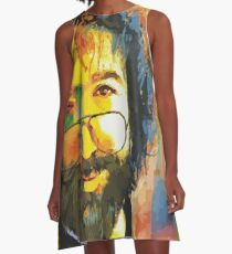 grateful dead jerry garcia face A-Line Dress