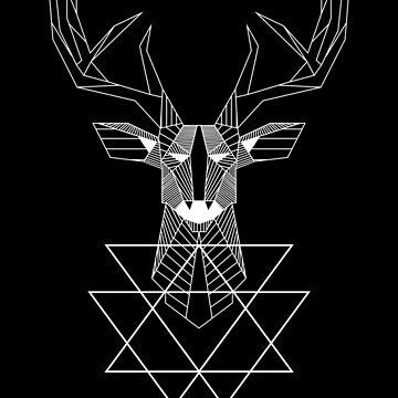 Geometric Deer Design by geekyshop