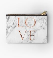 Rose gold marble LOVE Studio Pouch