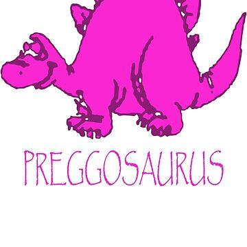 Preggosaurus Cute Funny by jajakanaka