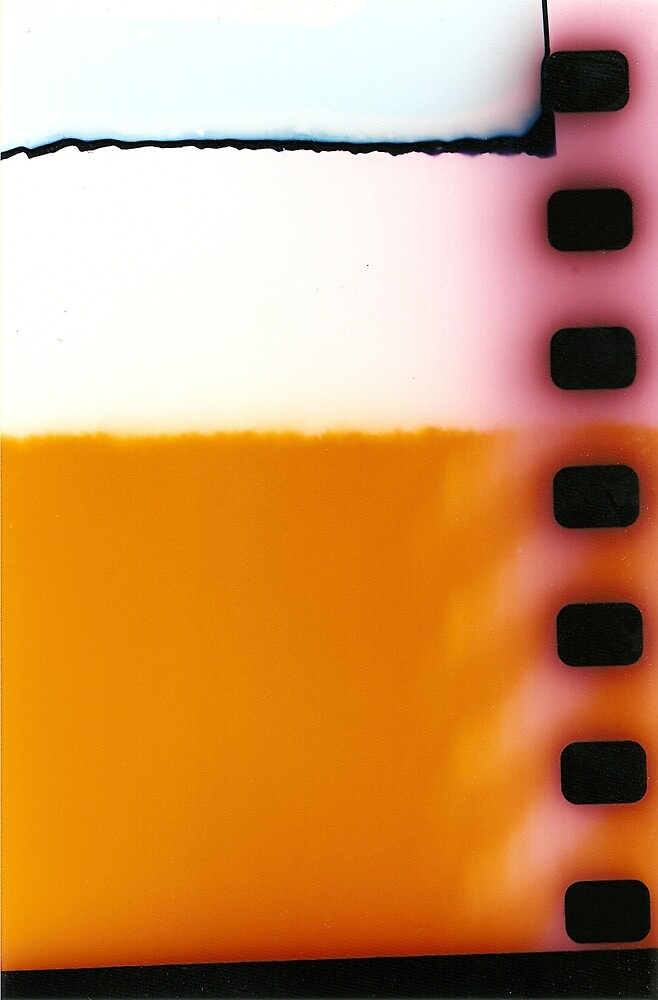 Yellow 35 mm film ends by Robholliday1970