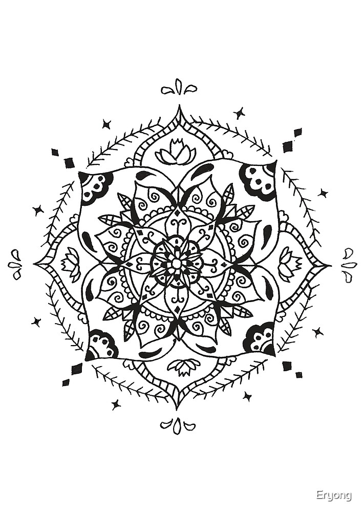 Black & White Mandala - Simple Style by Eryong