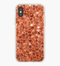 Rose gold glitter jelly iPhone Case