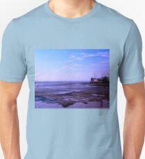 Blue hour on the  UK Beach.. Unisex T-Shirt