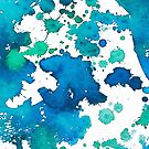 «Acuarela Splash Blue» de La Chic
