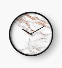 Rose gold vein marble Clock