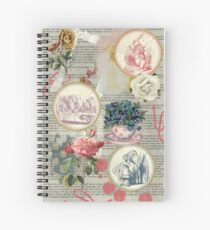 Alice floral collage Spiral Notebook