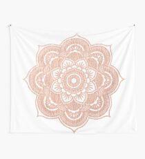 Tela decorativa Mandala de oro rosa