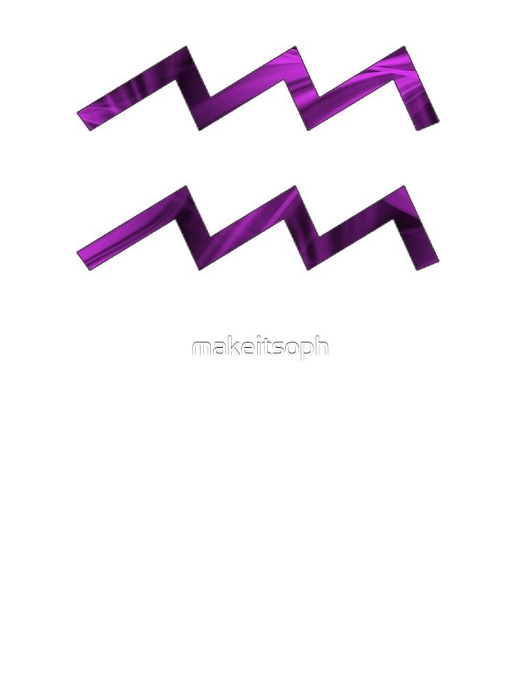Aquarius Star Sign Symbol Design  by makeitsoph