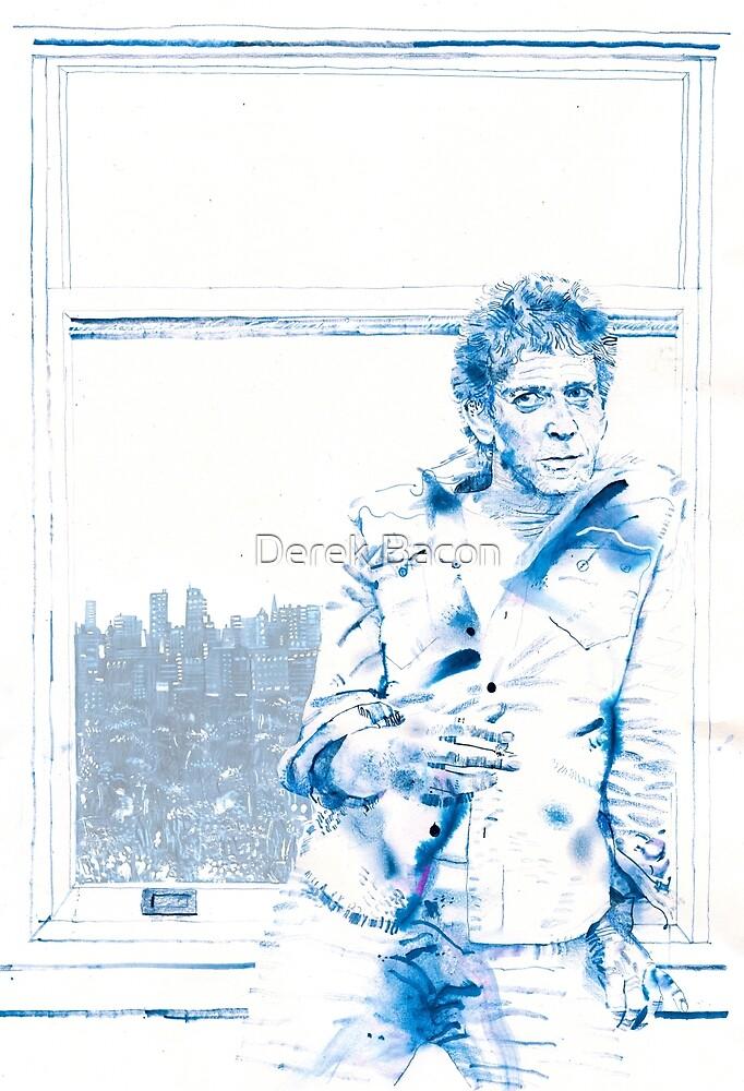 Lou Reed by Derek Bacon