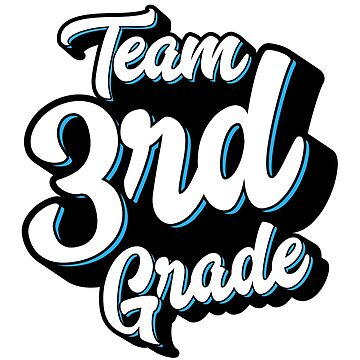 Team 3rd Third Grade - Back To School – Blue by augenpulver