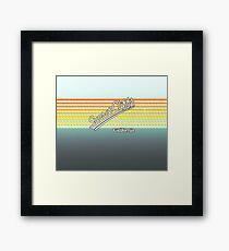 Sunset Cliffs, California | Surf Stripes Framed Print