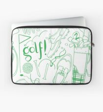 Golf pattern green Laptop Sleeve