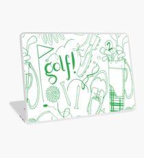 Golf pattern green Laptop Skin