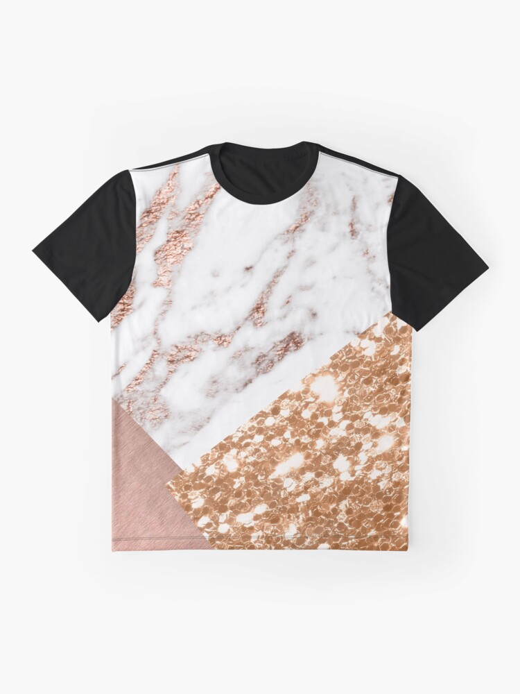 Vista alternativa de Camiseta gráfica Oro rosa en capas