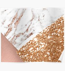 Layered rose gold Poster