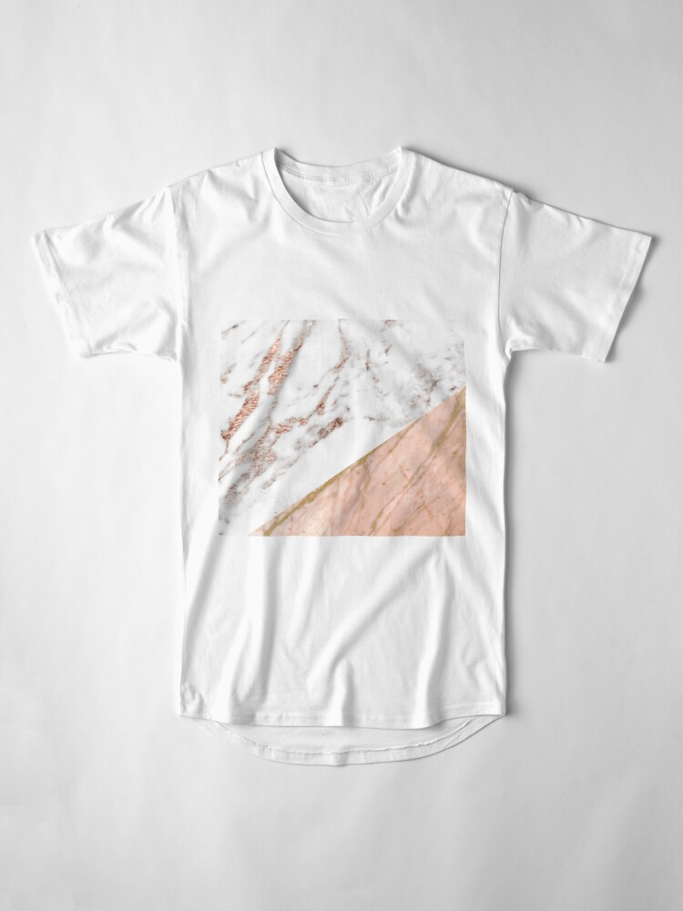 Alternate view of Rose gold marble blended Long T-Shirt