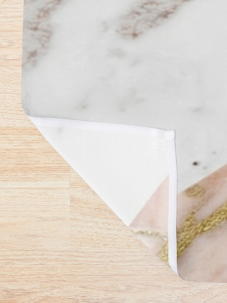 Alternate view of Rose gold marble blended Shower Curtain