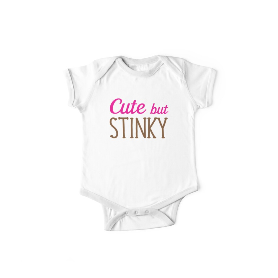 Cute but stinky (super awesome baby onesie) by jazzydevil