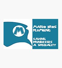 Mario business card  Photographic Print