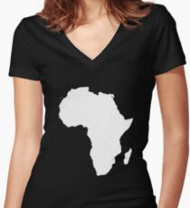 AFRICA RULES Women's Fitted V-Neck T-Shirt