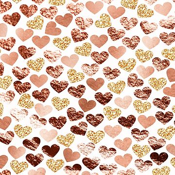 Corazones de oro rosa de peggieprints