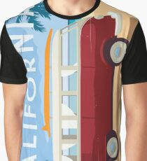 Vintage Travel Art - California Graphic T-Shirt