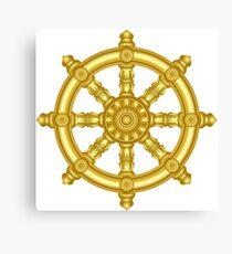 Dharma wheel 3. Canvas Print