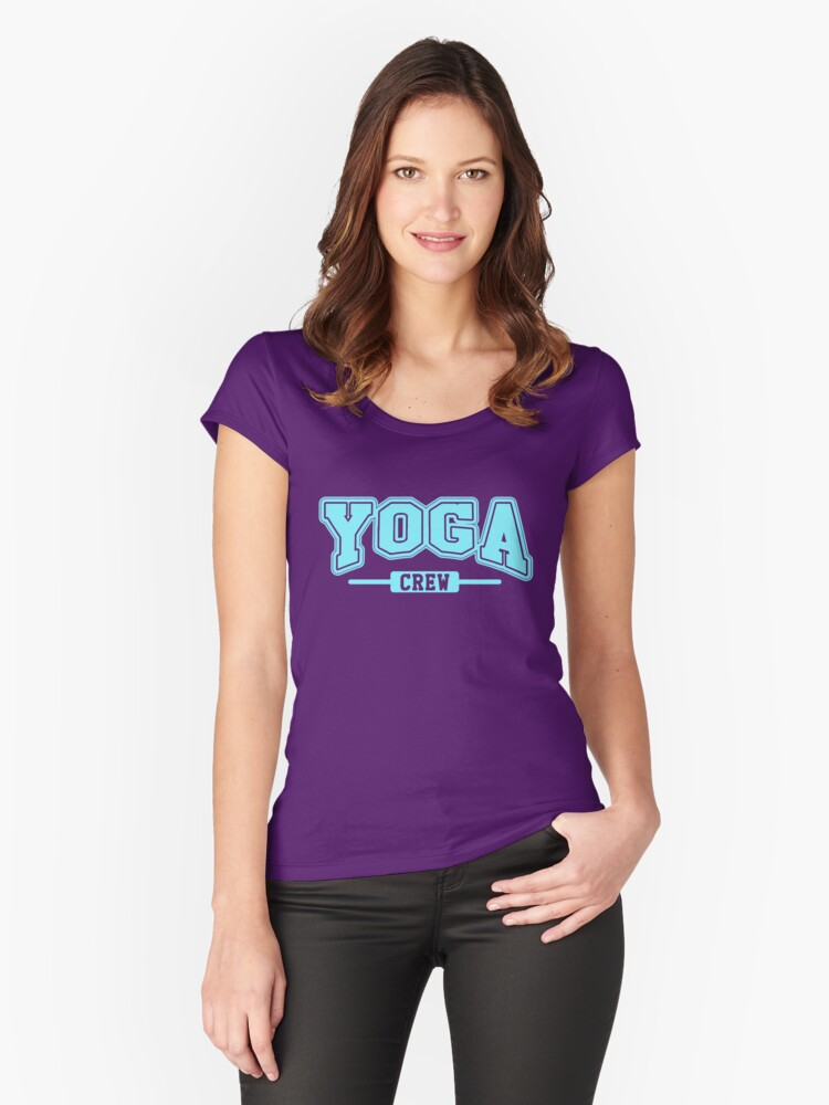 Yoga Crew Women's Fitted Scoop T-Shirt Front