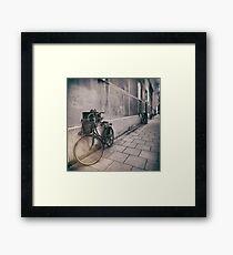 street photo BICYCLES #street #streetphoto Framed Print
