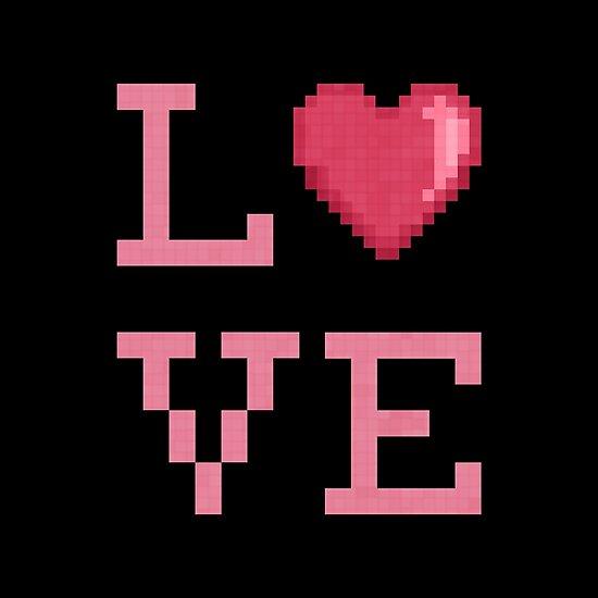 Love Pixels (black) by likelikes