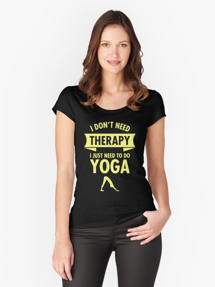 Yoga therapy Women's Fitted Scoop T-Shirt Front