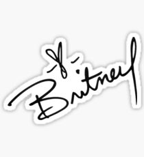 Britney Spears Autograph Sticker