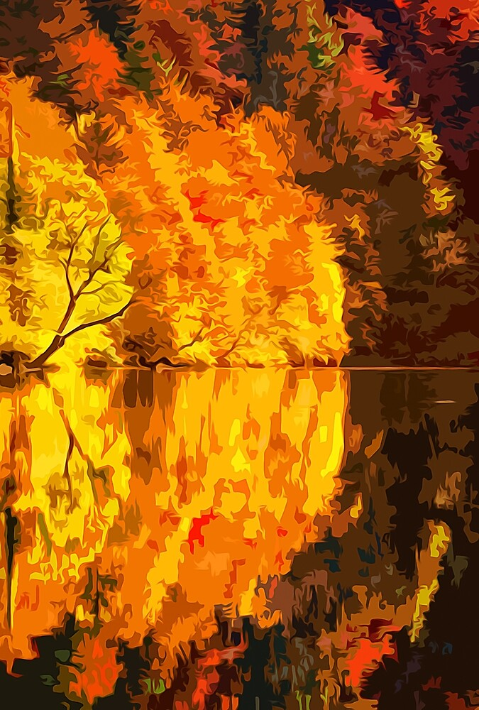 Golden Reflection by Andrea Mazzocchetti