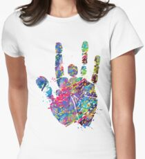 Grateful dead jerry on Women's Fitted T-Shirt