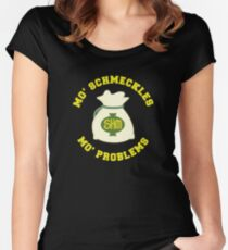 Mo' Schmeckles Mo' Problems Women's Fitted Scoop T-Shirt