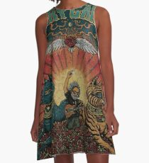 Grateful dead jerry play at roses field A-Line Dress