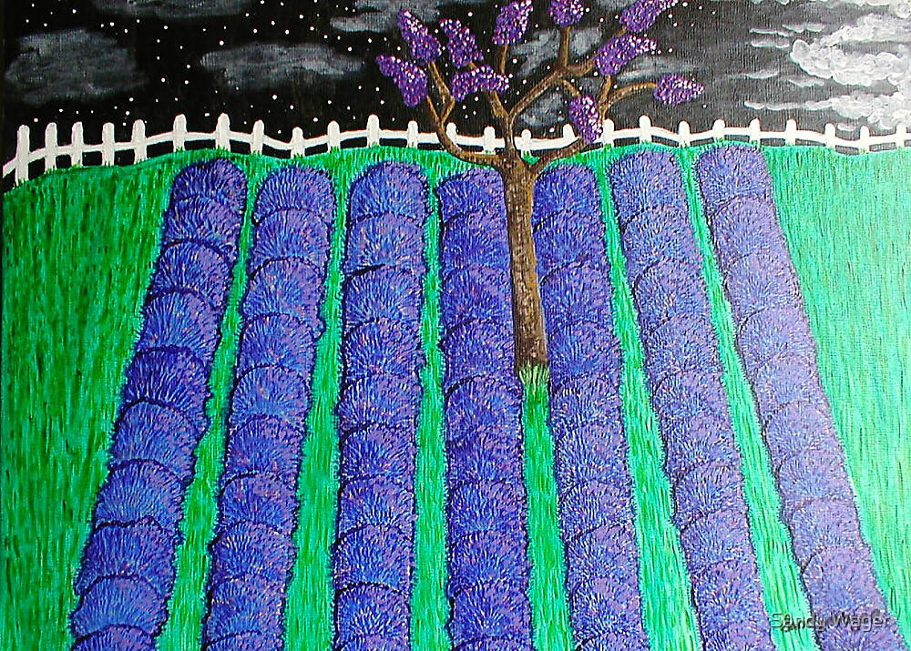 Lavender Night by Sandy Wager