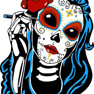 Candy Skull Lady by byruit