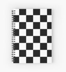 Checkered Flag, WIN, WINNER, Chequered Flag, Motor Sport, Racing Cars, Race, Finish line, BLACK Spiral Notebook
