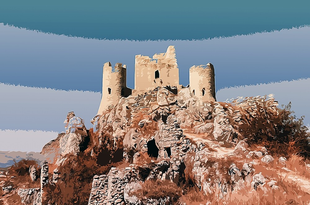 Medieval Castle of Calascio - Italy by Andrea Mazzocchetti