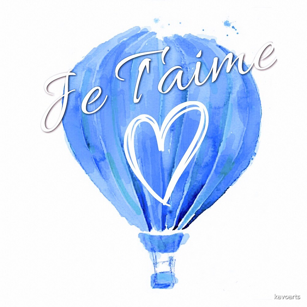 Balloon Je T'aime by kavoarts