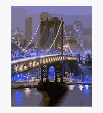 Lights of New York City  Photographic Print