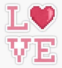 Love Pixels (white) Sticker