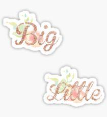 Big Little matching sticker Sticker