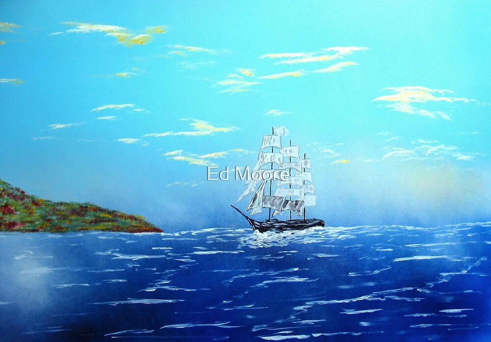 Sailing into Drakes Bay, California by Ed Moore