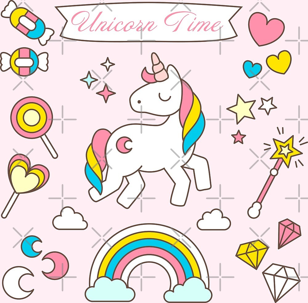 Unicorn Time Pink by byruit