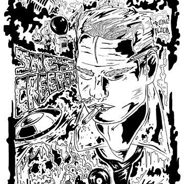 Royal Blood - She's Creeping illustration  by MarshallArtt