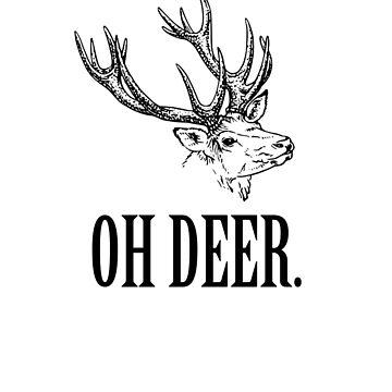 Oh Deer. Oh Dear! - Vintage Shirt Design by BavApparel